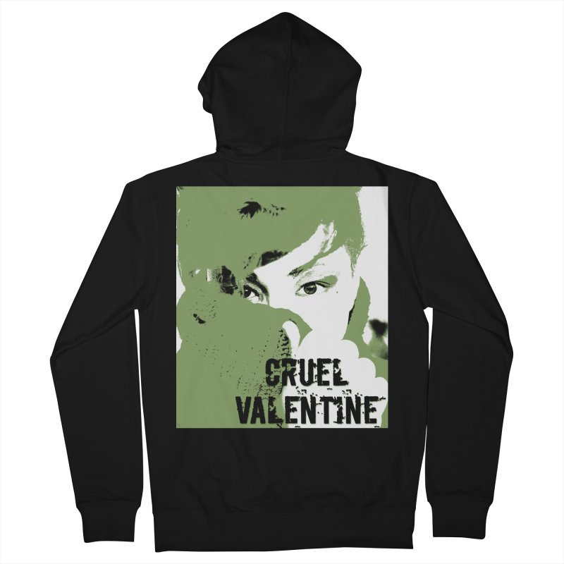 "Cruel Valentine ""Forget Me Not"" in Green Men's French Terry Zip-Up Hoody by Cruel Valentine"