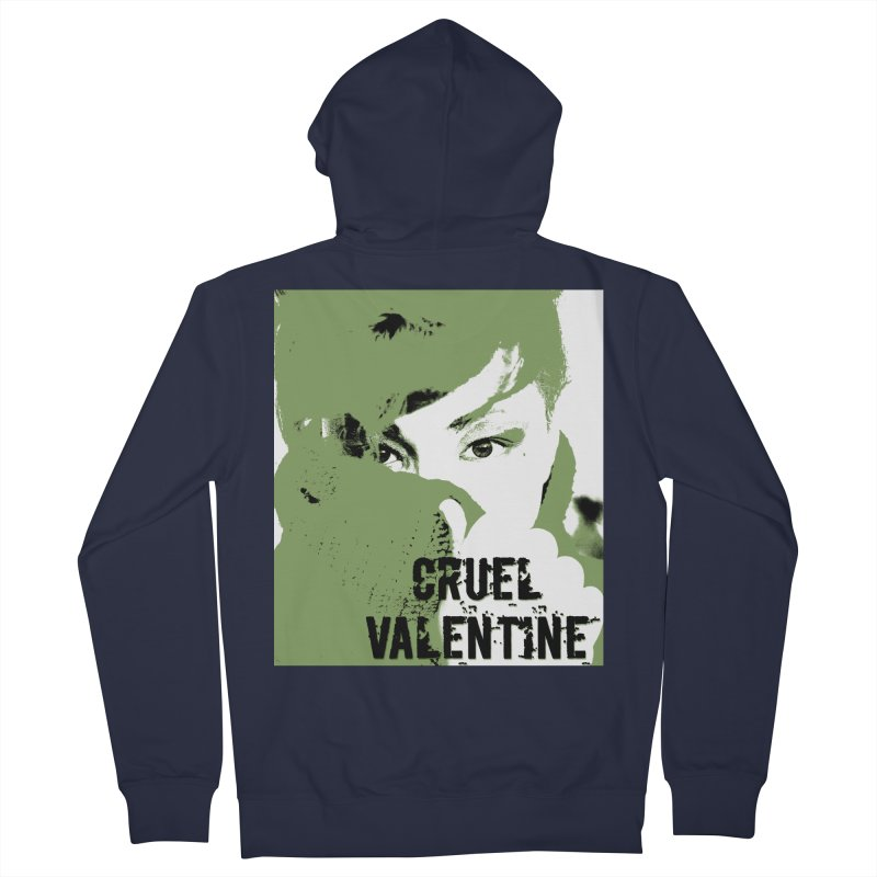 """Cruel Valentine """"Forget Me Not"""" in Green Men's French Terry Zip-Up Hoody by Cruel Valentine"""