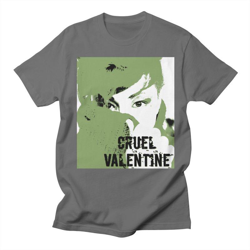 """Cruel Valentine """"Forget Me Not"""" in Green Men's T-Shirt by Cruel Valentine"""