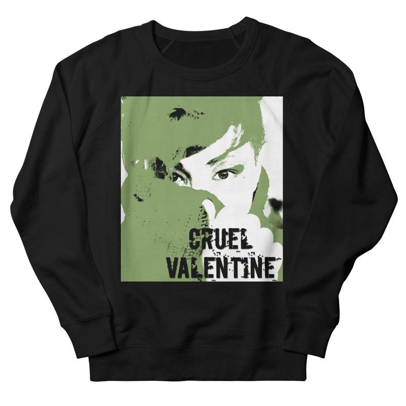 """Cruel Valentine """"Forget Me Not"""" in Green Men's French Terry Sweatshirt by Cruel Valentine"""