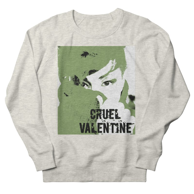 "Cruel Valentine ""Forget Me Not"" in Green Men's French Terry Sweatshirt by Cruel Valentine"