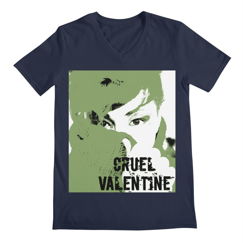 "Cruel Valentine ""Forget Me Not"" in Green Men's Regular V-Neck by Cruel Valentine"