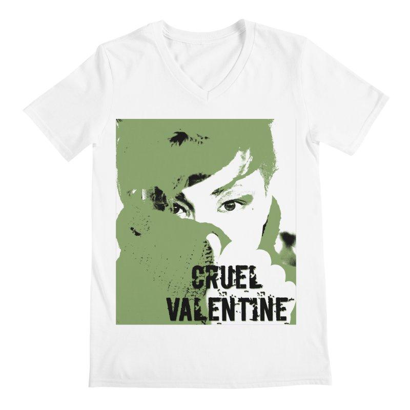 """Cruel Valentine """"Forget Me Not"""" in Green Men's Regular V-Neck by Cruel Valentine"""