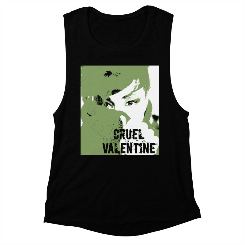 "Cruel Valentine ""Forget Me Not"" in Green Women's Muscle Tank by Cruel Valentine"