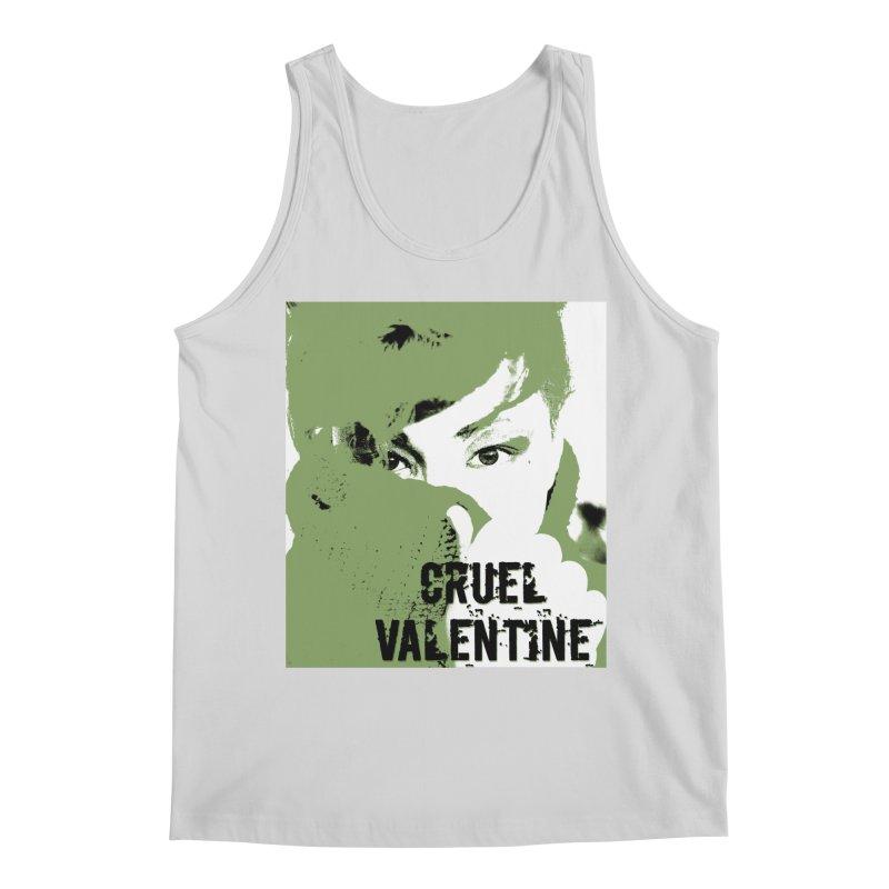 "Cruel Valentine ""Forget Me Not"" in Green Men's Regular Tank by Cruel Valentine"