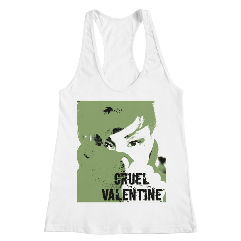 "Cruel Valentine ""Forget Me Not"" in Green Women's Racerback Tank by Cruel Valentine"