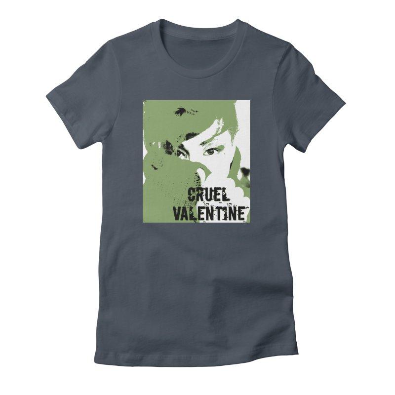"""Cruel Valentine """"Forget Me Not"""" in Green Women's T-Shirt by Cruel Valentine"""