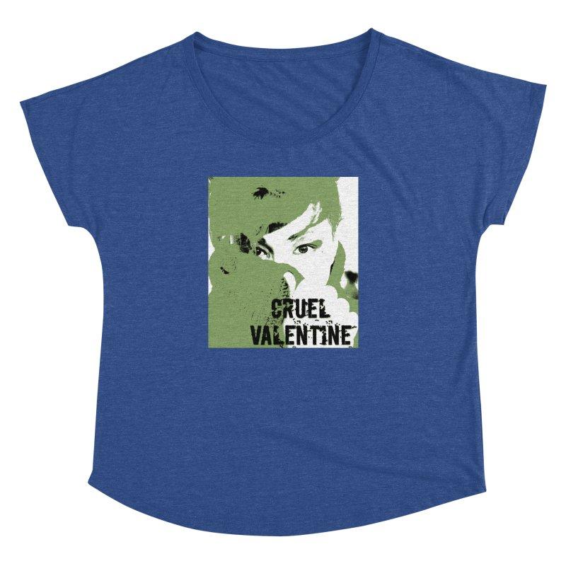 """Cruel Valentine """"Forget Me Not"""" in Green Women's Dolman Scoop Neck by Cruel Valentine"""
