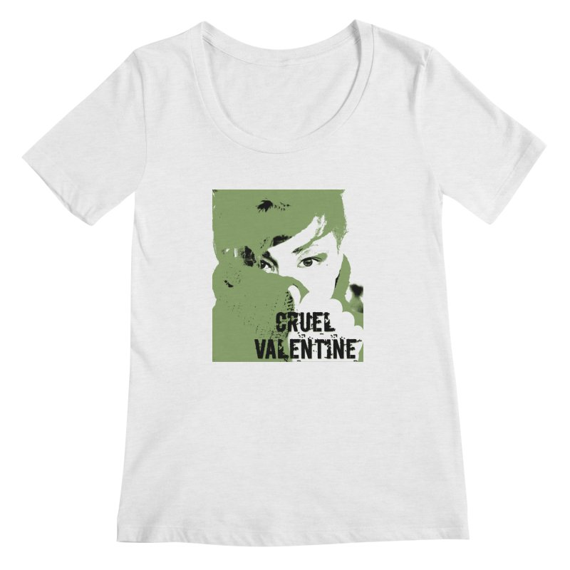 "Cruel Valentine ""Forget Me Not"" in Green Women's Regular Scoop Neck by Cruel Valentine"