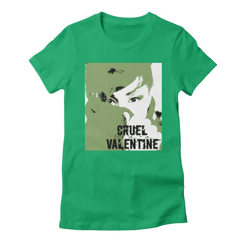"Cruel Valentine ""Forget Me Not"" in Green Women's Fitted T-Shirt by Cruel Valentine"