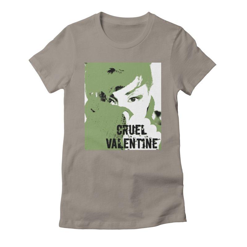 "Cruel Valentine ""Forget Me Not"" in Green Women's Fitted T-Shirt by Cruel Valentine"