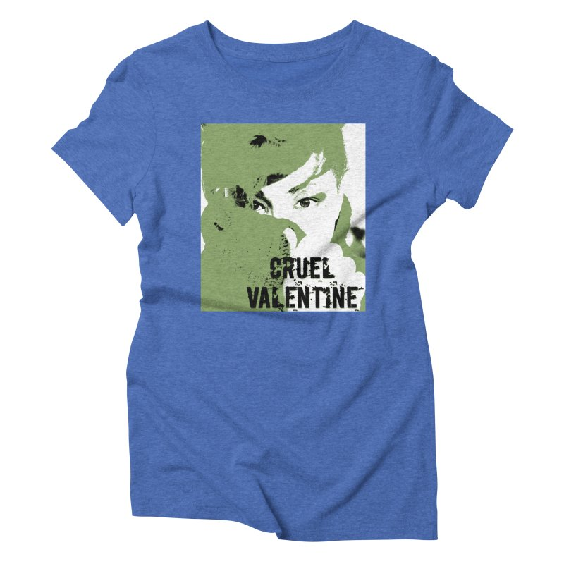 "Cruel Valentine ""Forget Me Not"" in Green Women's Triblend T-Shirt by Cruel Valentine"