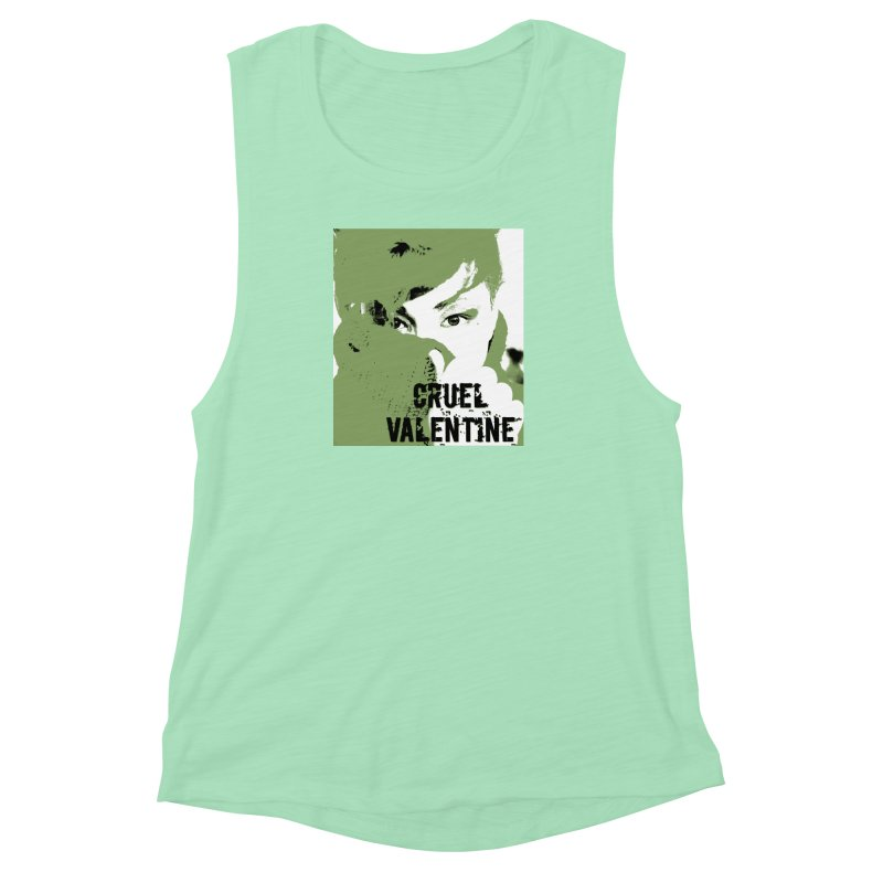 "Cruel Valentine ""Forget Me Not"" in Green Women's Muscle Tank by Cruel Valentine"