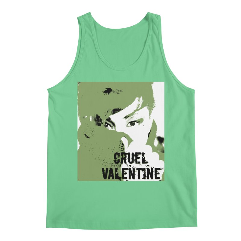 "Cruel Valentine ""Forget Me Not"" in Green Men's Regular Tank by Cruel Valentine"