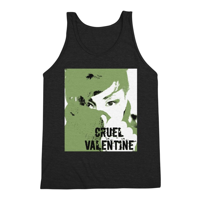 "Cruel Valentine ""Forget Me Not"" in Green Men's Triblend Tank by Cruel Valentine"