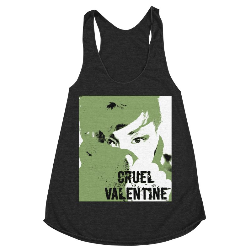 "Cruel Valentine ""Forget Me Not"" in Green Women's Racerback Triblend Tank by Cruel Valentine"