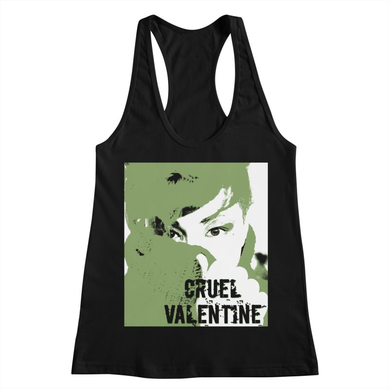 "Cruel Valentine ""Forget Me Not"" in Green Women's Racerback Tank by Cruel Valentine"
