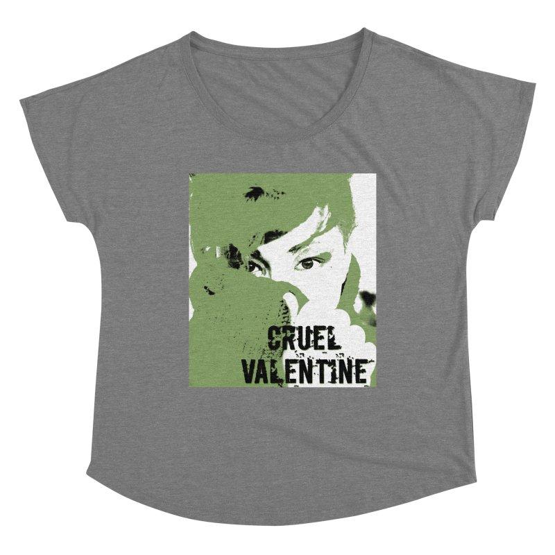 """Cruel Valentine """"Forget Me Not"""" in Green Women's Scoop Neck by Cruel Valentine"""