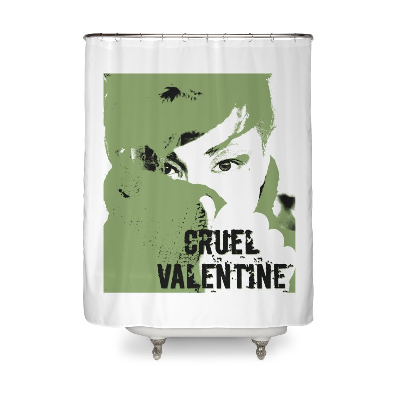 "Cruel Valentine ""Forget Me Not"" in Green Home Shower Curtain by Cruel Valentine"