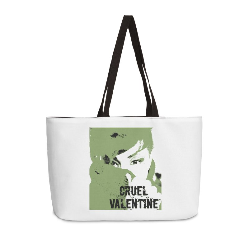 "Cruel Valentine ""Forget Me Not"" in Green Accessories Weekender Bag Bag by Cruel Valentine"
