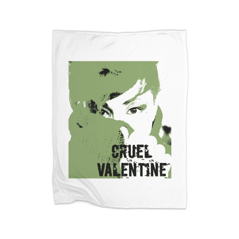"Cruel Valentine ""Forget Me Not"" in Green Home Fleece Blanket Blanket by Cruel Valentine"