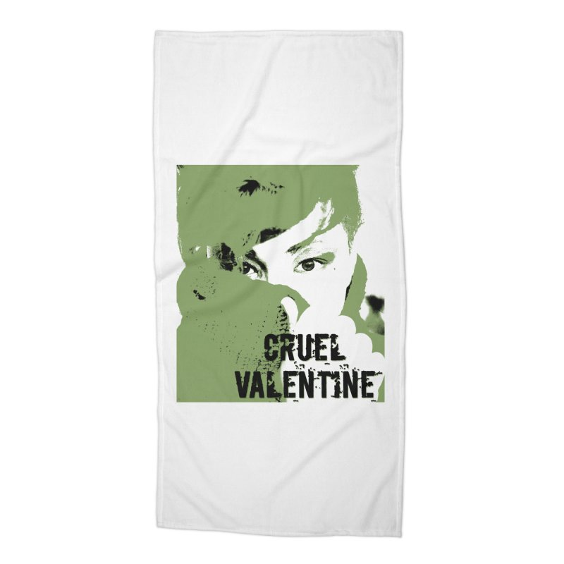 "Cruel Valentine ""Forget Me Not"" in Green Accessories Beach Towel by Cruel Valentine"