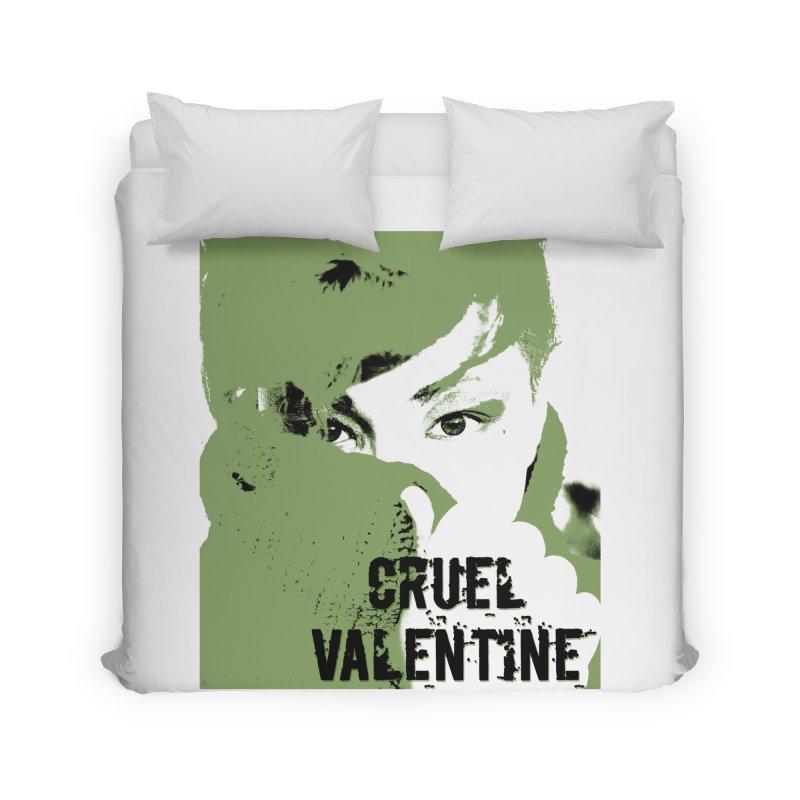 "Cruel Valentine ""Forget Me Not"" in Green Home Duvet by Cruel Valentine"