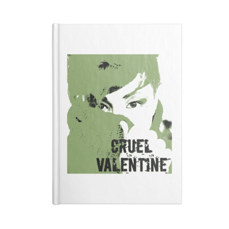 "Cruel Valentine ""Forget Me Not"" in Green Accessories Blank Journal Notebook by Cruel Valentine"