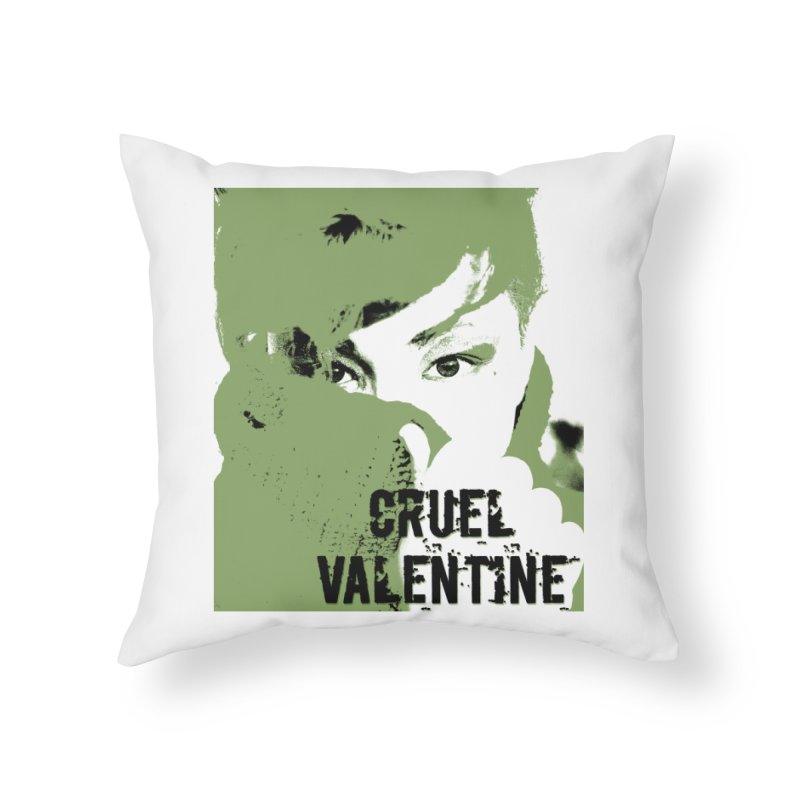 "Cruel Valentine ""Forget Me Not"" in Green Home Throw Pillow by Cruel Valentine"