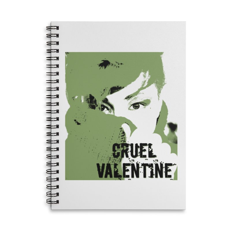"Cruel Valentine ""Forget Me Not"" in Green Accessories Lined Spiral Notebook by Cruel Valentine"