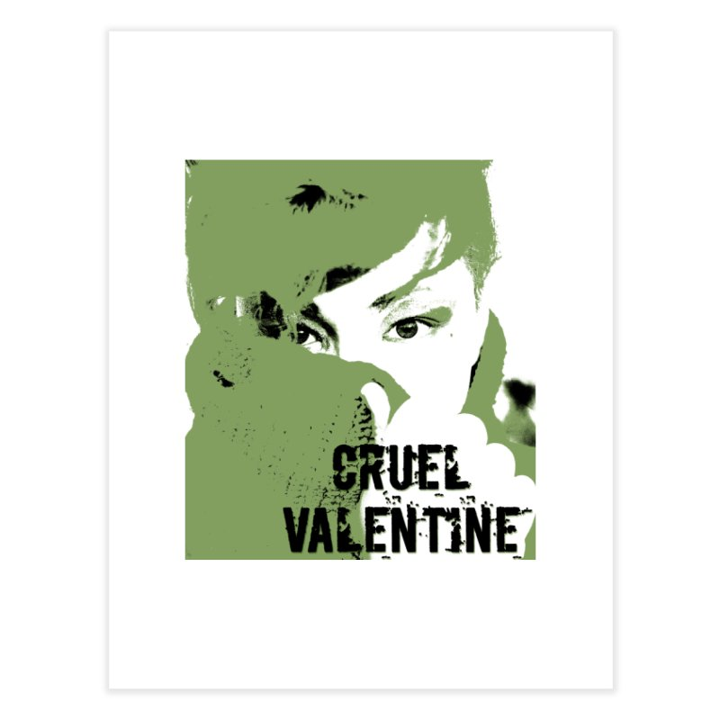"Cruel Valentine ""Forget Me Not"" in Green Home Fine Art Print by Cruel Valentine"