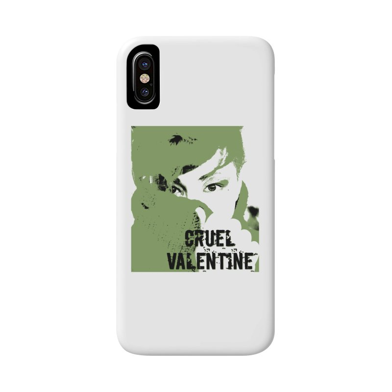 "Cruel Valentine ""Forget Me Not"" in Green Accessories Phone Case by Cruel Valentine"