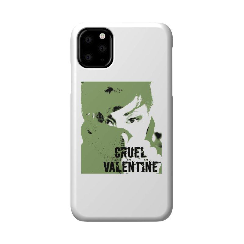 "Cruel Valentine ""Forget Me Not"" in Green Accessories Phone Case by Cruel Valentine"