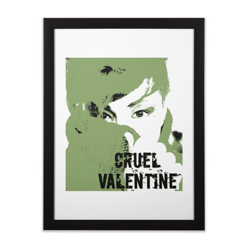 "Cruel Valentine ""Forget Me Not"" in Green Home Framed Fine Art Print by Cruel Valentine"
