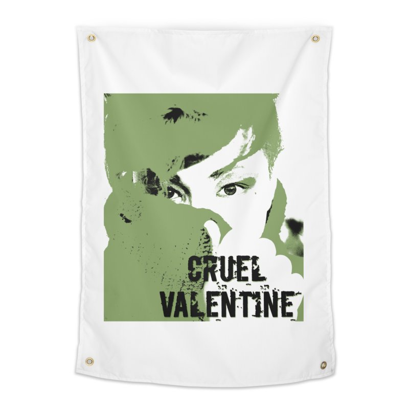 "Cruel Valentine ""Forget Me Not"" in Green Home Tapestry by Cruel Valentine"