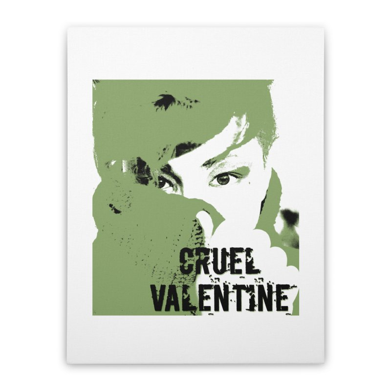 "Cruel Valentine ""Forget Me Not"" in Green Home Stretched Canvas by Cruel Valentine"