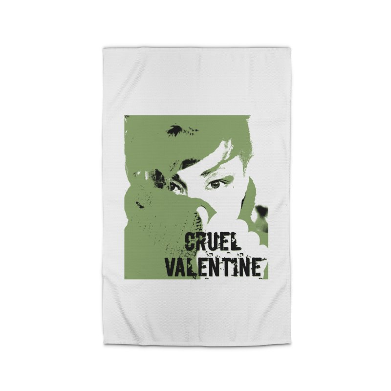 "Cruel Valentine ""Forget Me Not"" in Green Home Rug by Cruel Valentine"