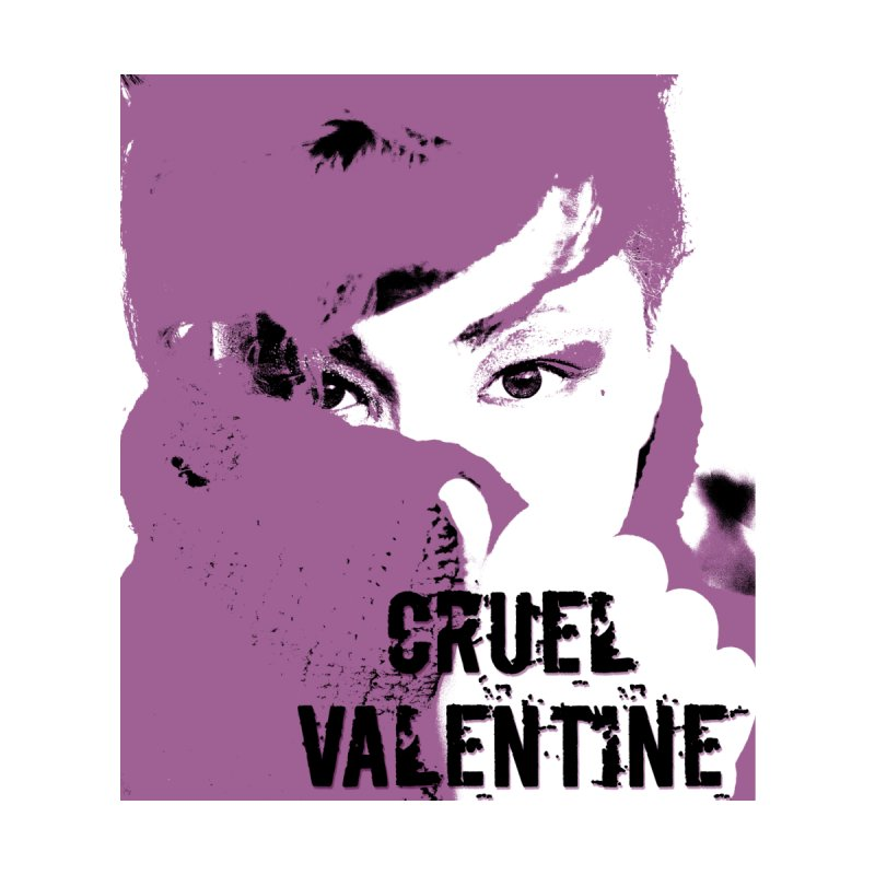 "Cruel Valentine ""Forget Me Not"" in Purple Accessories Zip Pouch by Cruel Valentine"