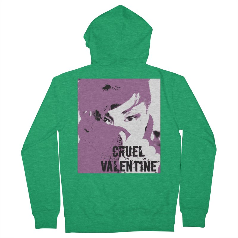"Cruel Valentine ""Forget Me Not"" in Purple Men's Zip-Up Hoody by Cruel Valentine"
