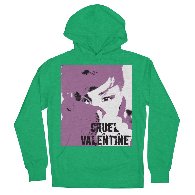 "Cruel Valentine ""Forget Me Not"" in Purple Women's French Terry Pullover Hoody by Cruel Valentine"