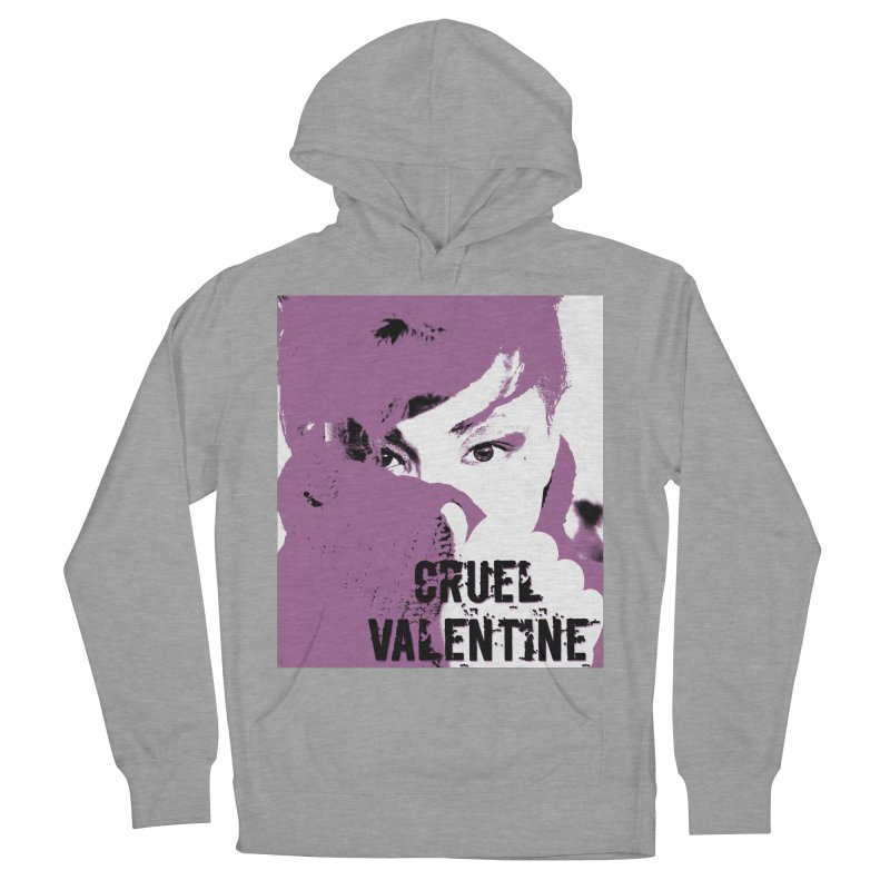 "Cruel Valentine ""Forget Me Not"" in Purple Men's French Terry Pullover Hoody by Cruel Valentine"