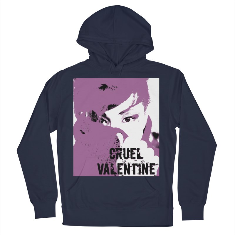 """Cruel Valentine """"Forget Me Not"""" in Purple Men's French Terry Pullover Hoody by Cruel Valentine"""