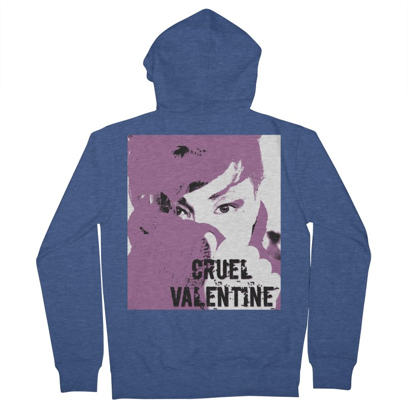 "Cruel Valentine ""Forget Me Not"" in Purple Women's French Terry Zip-Up Hoody by Cruel Valentine"