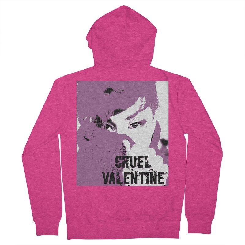 "Cruel Valentine ""Forget Me Not"" in Purple Women's French Terry Zip-Up Hoody by Cruel Valentine"