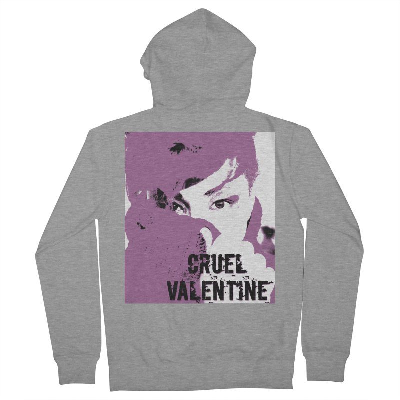"Cruel Valentine ""Forget Me Not"" in Purple Men's French Terry Zip-Up Hoody by Cruel Valentine"