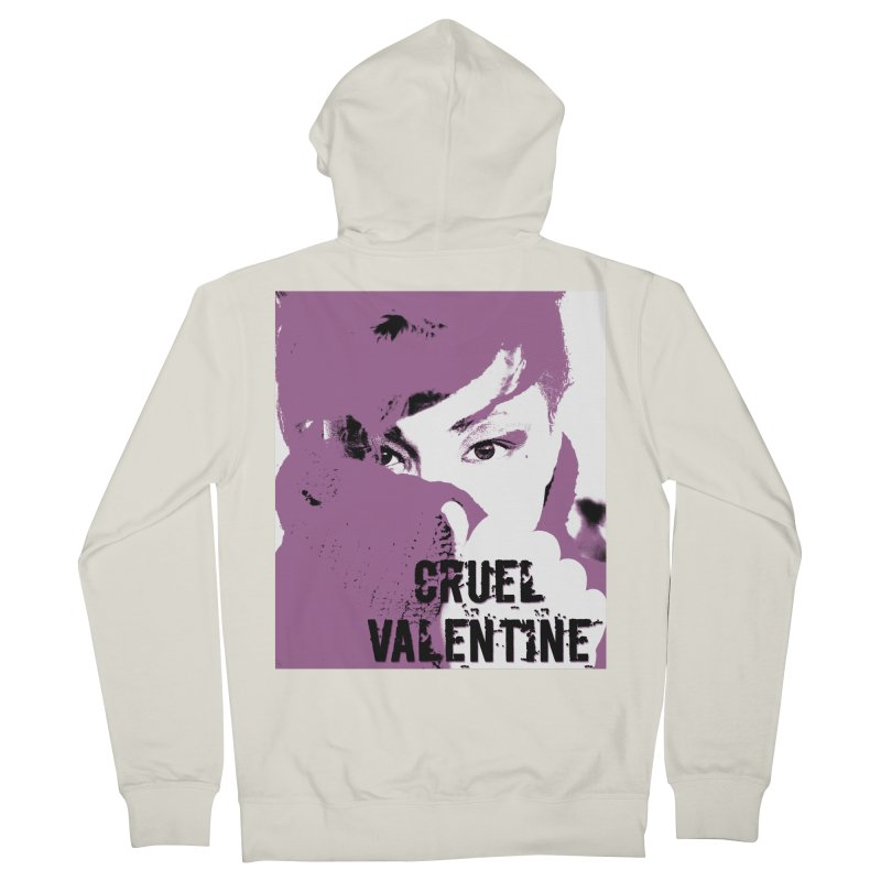 "Cruel Valentine ""Forget Me Not"" in Purple Men's French Terry Zip-Up Hoody by Cruel Valentine"