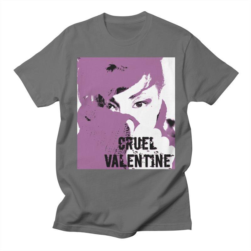 """Cruel Valentine """"Forget Me Not"""" in Purple Men's T-Shirt by Cruel Valentine"""