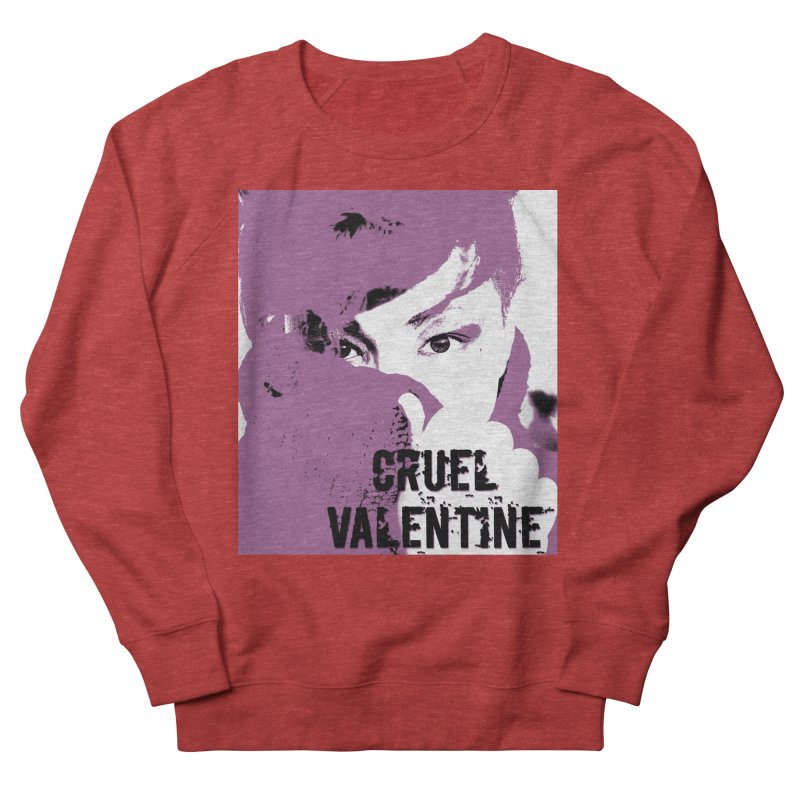 "Cruel Valentine ""Forget Me Not"" in Purple Women's French Terry Sweatshirt by Cruel Valentine"
