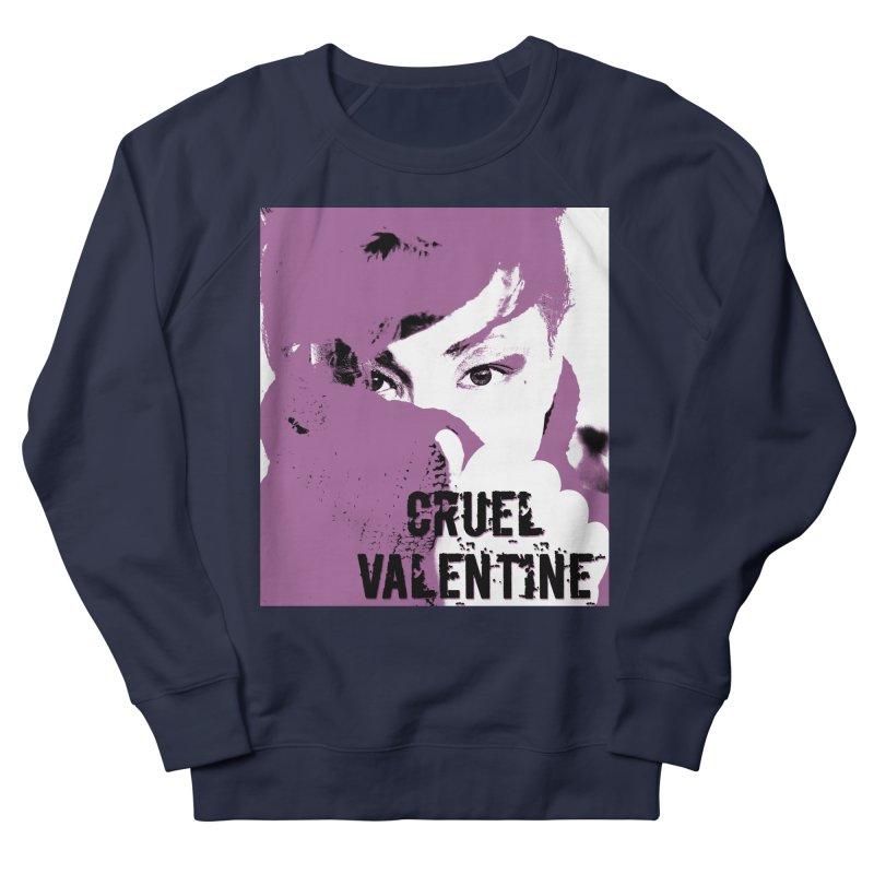 """Cruel Valentine """"Forget Me Not"""" in Purple Women's French Terry Sweatshirt by Cruel Valentine"""