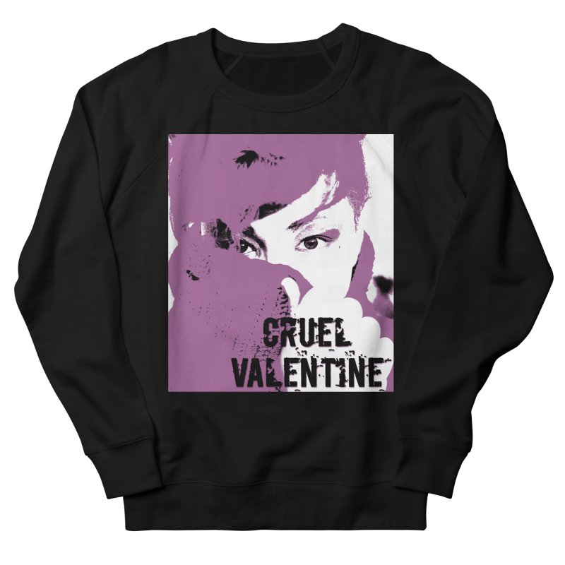 "Cruel Valentine ""Forget Me Not"" in Purple Men's French Terry Sweatshirt by Cruel Valentine"